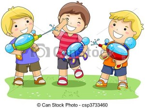 8541acb643e24c934f0d14b8a811afa0_stock-illustration-water-gun-clipart-of-children-playing-in-water_450-334